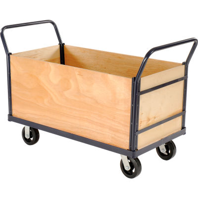 Global Industrial™ Euro Truck with 4 Wood Sides & Deck 48 x 24 2000 Lb. Capacity