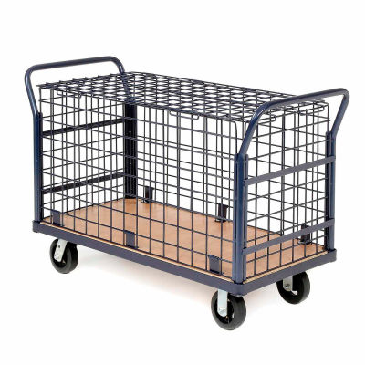Global Industrial™ Euro Wire Security Truck 48 x 24 2000 Lb. Capacity