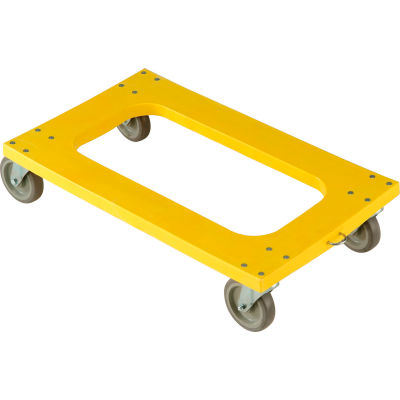 """Global Industrial™ Plastic Dolly with Flush Deck 5"""" Casters 1200 Lb. Capacity"""