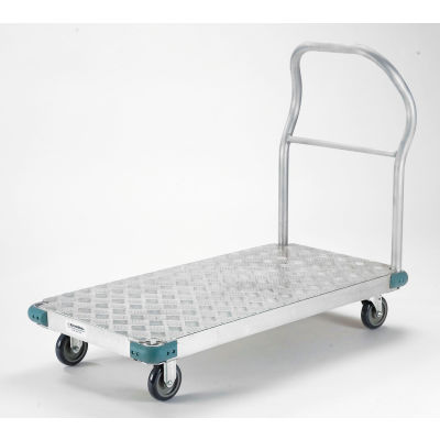"Global Industrial™ Aluminum Diamond Deck Platform Truck 60x30 1000 Lb. Cap. 5"" Poly Casters"