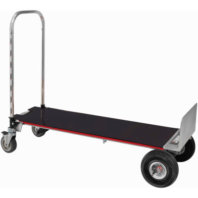 Magliner® Gemini XL XLSP 2-in-1 Convertible Hand Truck with Deck - Pneumatic Wheels