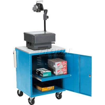 Global Industrial® Blue Security Audio Visual Cart 500 Lb. Capacity
