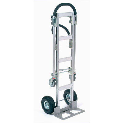 Global Industrial™ Senior Aluminum 2-in-1 Convertible Hand Truck With Pneumatic Wheels
