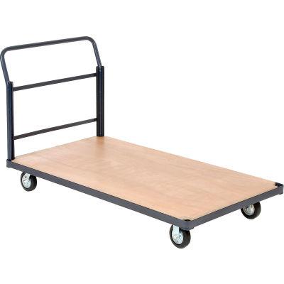 "Global Industrial™ Steel Bound Wood Deck Platform Truck 60x30 1400 Lb. Cap. 5"" Rubber Casters"
