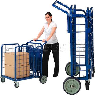 Global Industrial™ Fold-A-Way Steel Stock Cart 750 Lb. Capacity