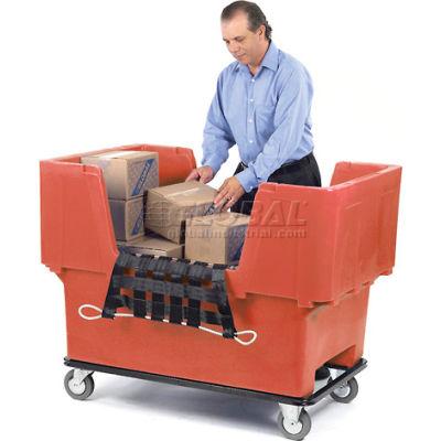 Dandux Red Easy Access 18 Bushel Plastic Mail & Box Truck 51166718R-5S with Cargo Net