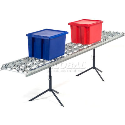 Omni Metalcraft Steel Skate Wheel Conveyor Straight Section WSHS3-12-8-5-LL