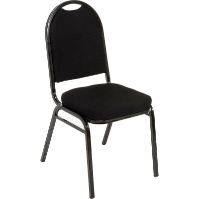 KFI Heavy Duty Banquet Stacking Chair - Black Fabric / Black Frame - Pkg Qty 4