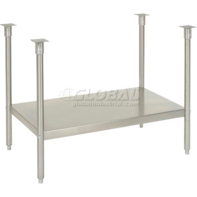 """72""""W x 30""""D Stainless Steel Shelf and Leg Kit"""