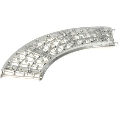 Omni Metalcraft Steel Skate Wheel Conveyor Curved Section WSHC3-24-20-90