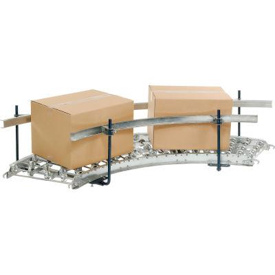 Steel Guard Rail Kit (Pair) for Omni Metalcraft 90 Degree Curved Skate Wheel Conveyor