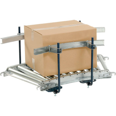 Steel Guard Rail Kit (Pair) GCBS-10-1.6-A for Omni Metalcraft 10' Straight Roller Conveyor