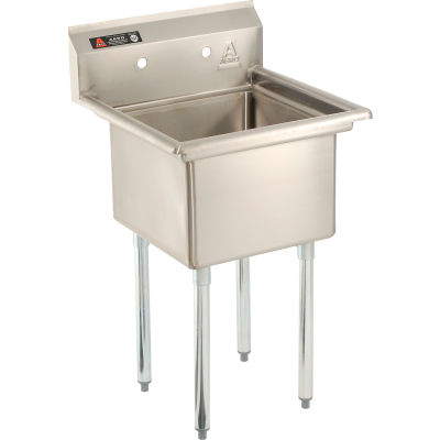 Aero Manufacturing Company® Stainless Steel Sink - One Bowl Sink 18 x 18, Aero Manufacturing