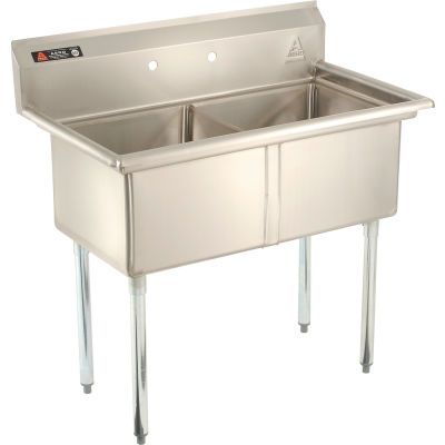 Aero Manufacturing Company® AF2-1818 Two Bowl SS sink 18 x 18