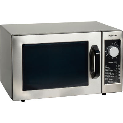 Panasonic® NE-1025F, Commercial Microwave Oven,  0.8 Cu. Ft. 1000 Watt, Dial Control