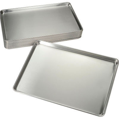 "Nexel® BP1826 Bun Pan, Full Size, 18""W x 26""L, 18 Ga. Aluminum, Wire Reinforced Edge - Pkg Qty 12"