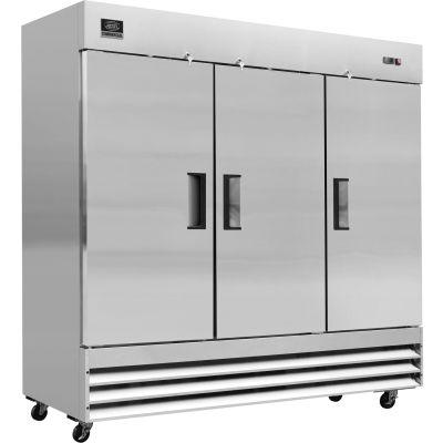 """Nexel® Commercial Reach-In Refrigerator, 3 Door, 72 Cu. Ft., 80-7/8""""W x 32-1/4""""D x 82-1/2""""H"""