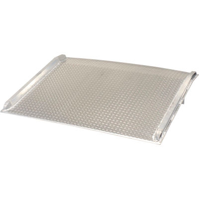 Aluminum Dock Board with Aluminum Curbs BTA-07007260 72x60 7000 Lb. Cap.