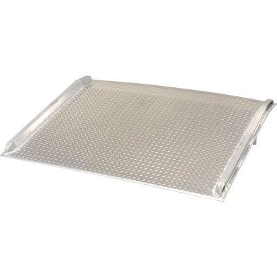 Aluminum Dock Board with Aluminum Curbs BTA-10007272 72x72 10,000 Lb. Cap