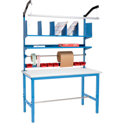 Global Industrial™ Packing Workbench Plastic Safety Edge - 72 x 30 with Riser Kit