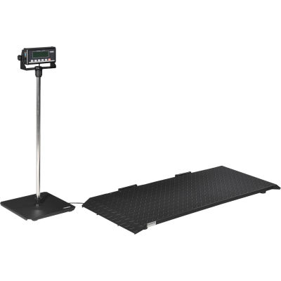 Global Industrial® Digital Floor Scale With LCD Indicator & Stand, 1,200 lb x 0.5 lb