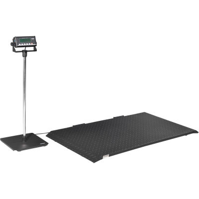 Global Industrial® Digital Floor Scale With LCD Indicator & Stand, 2,000 lb x 1 lb
