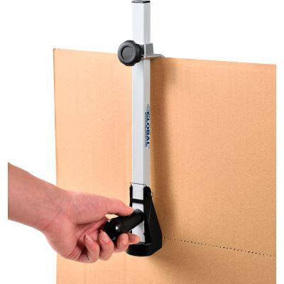 """Global Industrial™ Carton Box Sizer w/ Blade Guard, 13""""L x 1-3/4""""W x 3/4""""D, Gray"""