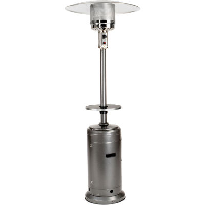 Hiland Patio Heater HLDS01-CBT Propane 48000 BTU With Table Silver