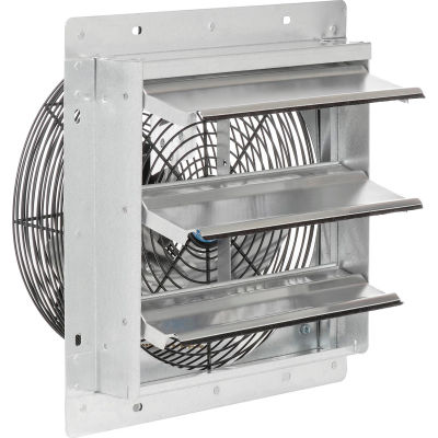 """12"""" 3-Speed Direct Drive Exhaust Fan With Shutter, 1/12 HP"""