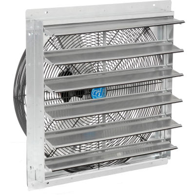 """Continental Dynamics® 24"""" Direct Drive Exhaust Fan With Shutter, 1/4 HP, 2 Speed"""