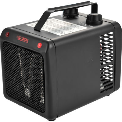 Global Industrial™ Portable Heater With Adjustable Thermostat, 1000-1500W, 120 V
