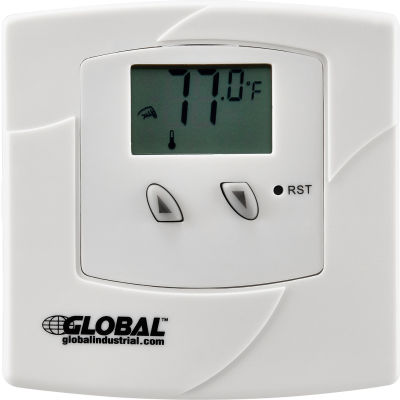 Global Industrial™ Non-Programmable Thermostat 24V Heat or Cool Only