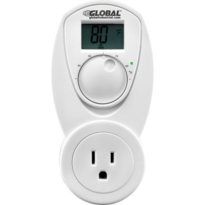 Plug In Thermostat Control For Heat 120V, Analog 40-95°F