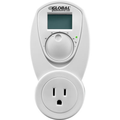 Global Industrial® Plug In Thermostat Control For Cool 120V, Analog 40-95°F