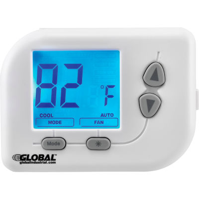 Global Industrial™ Programmable Thermostat, Heat, Cool, Off Mode, 5-1-1 Programmable