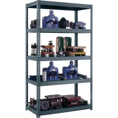"""High Capacity Boltless Shelving, 48W"""" x 18D"""" x 84H"""", 5 Shelves, Gray"""