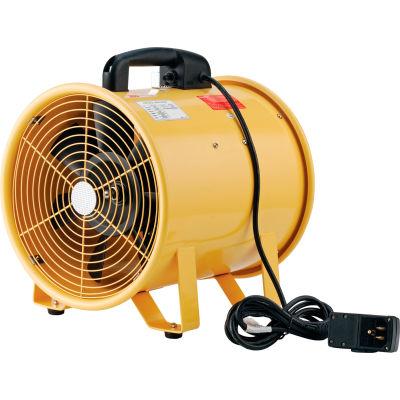 """Global Industrial™ 12"""" Portable Blower Fan, 2 Speed, 1640 CFM, 3/8 HP"""