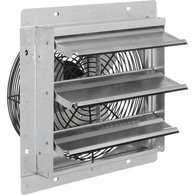 "CD Direct Drive 12"" Exhaust Fan With Shutter, 1/25 HP, Single Speed"