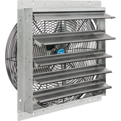 """Continental Dynamics® 18"""" Exhaust Fan with Shutter - Direct Drive - 1/8 HP - Single Speed"""