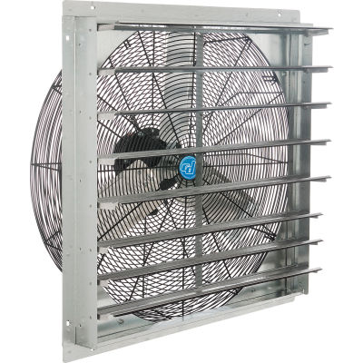 """Continental Dynamics® 30"""" Single Speed Direct Drive Exhaust Fan With Shutter, 1/4 HP"""