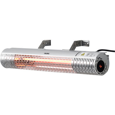 """Global Industrial™ Infrared Patio Heater w/ Remote Control, Wall/Ceiling Mount, 1500W, 30-3/4""""L"""