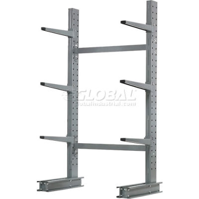 """Cantilever Rack Single Sided, Starter Med Duty (1000 Series), 48"""" W  x 33"""" D x  6' H, 8100 Lbs Cap"""