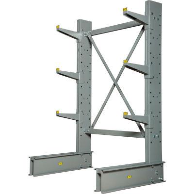 "Cantilever Rack Single Sided Starter Unit Medium Duty (1000 Series),48""W  x 33""D x 6'H, 8100 Lbs Cap"
