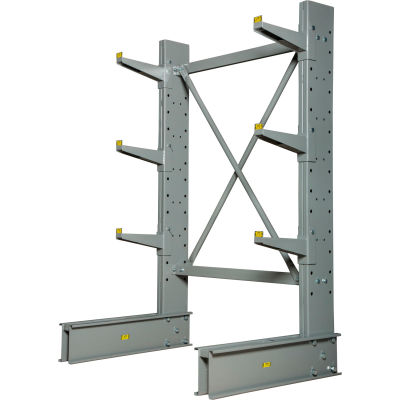 """Global Industrial™ Single Sided Cantilever Rack Starter, 2"""" Lip, 48""""Wx33""""Dx6'H"""