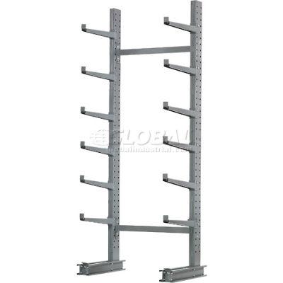 "Cantilever Rack Single Sided, Starter Unit Medium Duty (1000 Series),72""W  x 45""D x10'H,3800 Lbs Cap"