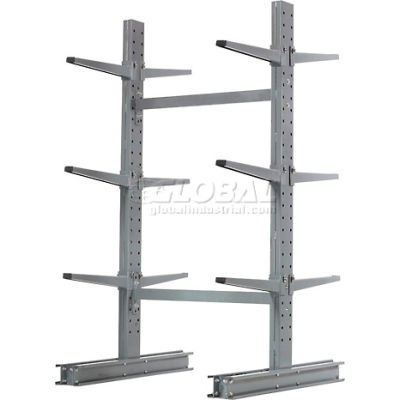 "Cantilever Rack Double Sided Starter Unit Medium Duty (1000 Series),48""W  x 54""D x 6'H,16200 Lbs Cap"