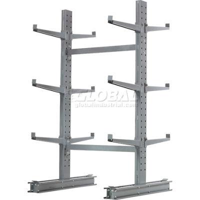 "Cantilever Rack Double Sided, Starter Unit Medium Duty (1000 Series),48""W  x 54""D x6'H,16200 Lbs Cap"