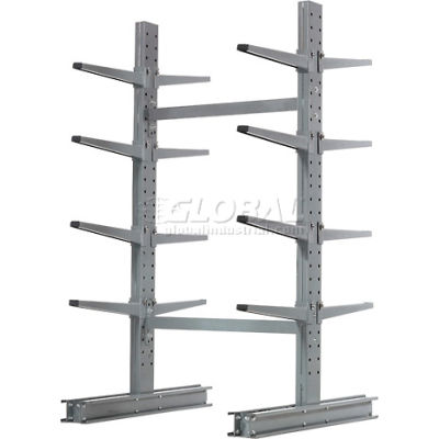 "Cantilever Rack Double Sided Starter Unit Medium Duty (1000 Series),48""W  x 54""D x8'H, 10600 Lbs Cap"