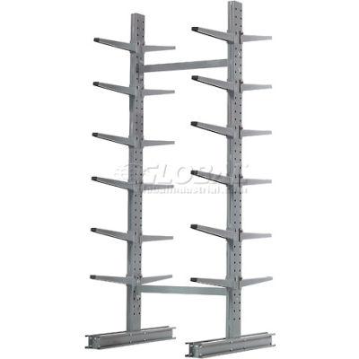 "Cantilever Rack Double Sided Starter Unit Medium Duty (1000 Series),72""W  x 78""D x10'H, 7600 Lbs Cap"