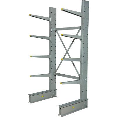 "Cantilever Rack Single Sided Starter Unit HD (2000 Series), 48"" W  x 38"" D x 8' H, 10300 Lbs Cap"